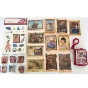 Lot American Girl Historical Keychain Stickers Pin